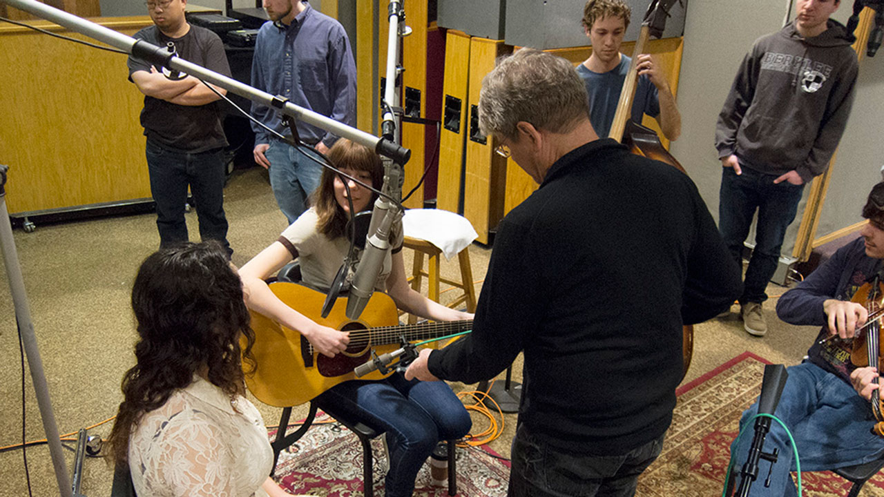 George Massenburg and Alison Brown in the Studio