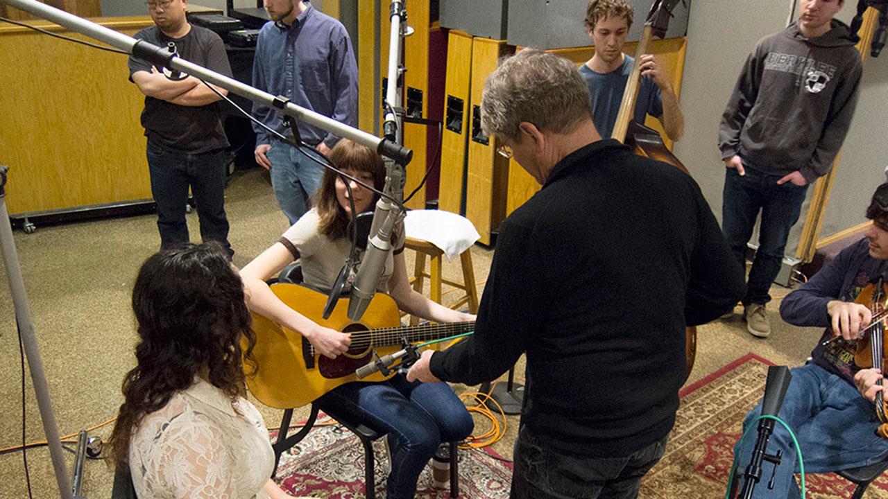 George Massenburg and Alison Brown in the Studio
