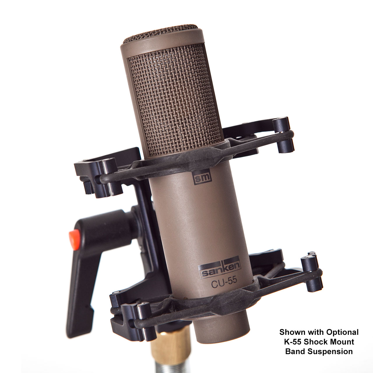 Sanken Chromatic CU-55 with Optional K-55 Shock Mount Band Suspension