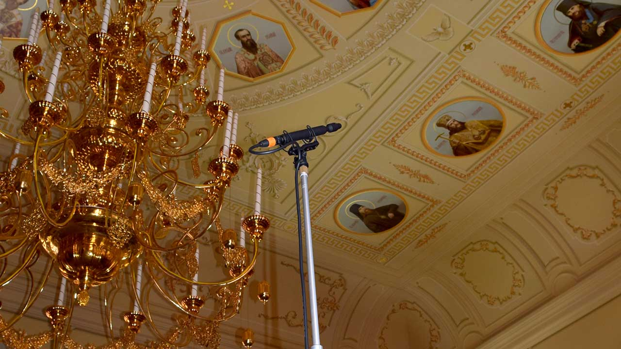 John Newton CO-100K Mic at Saratov Cathedral Russia