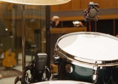 CU-44X MKII and CU-55 on Drums