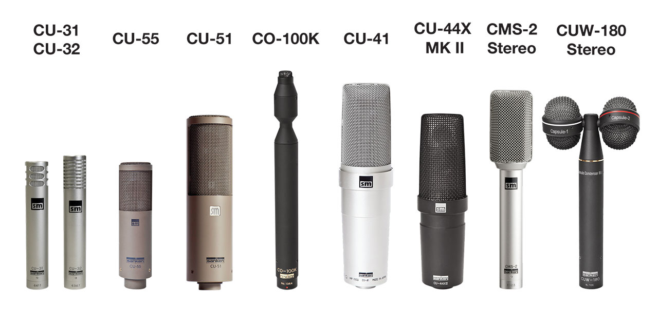 Sanken Chromatic Range of Music Mics